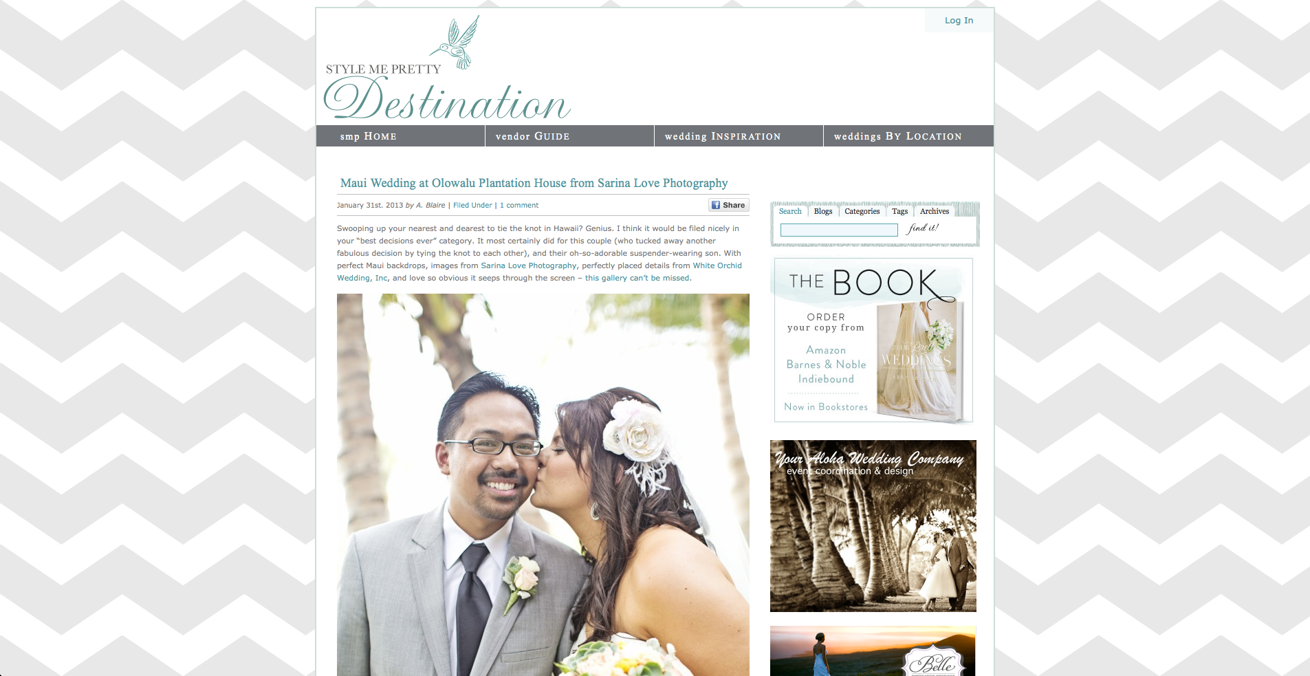 Style Me Pretty Maui Destination Wedding