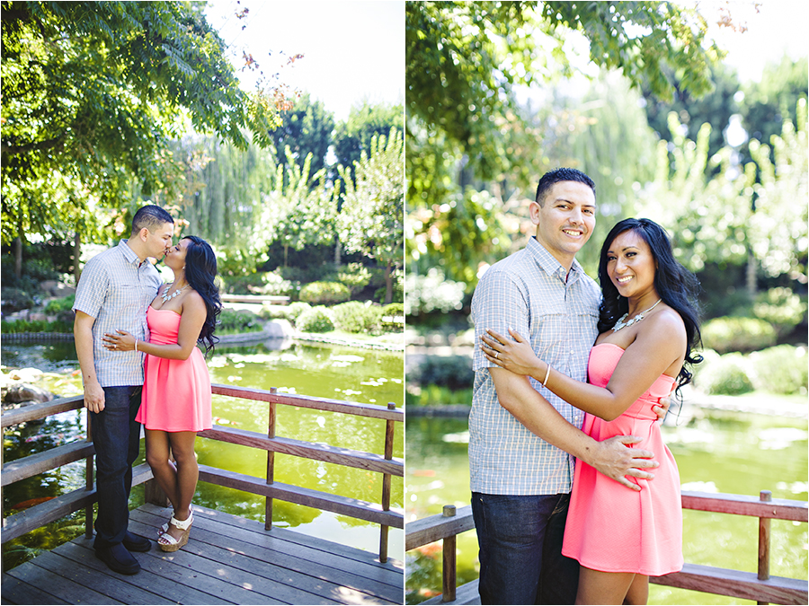 Earl Burns Miller Japenese Garden Engagement Session