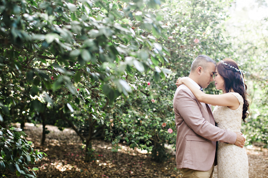 descanso gardens engagement session